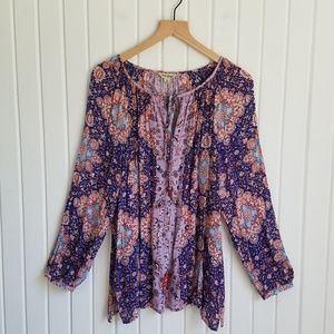 Lucky Brand Peasant Top Size XL